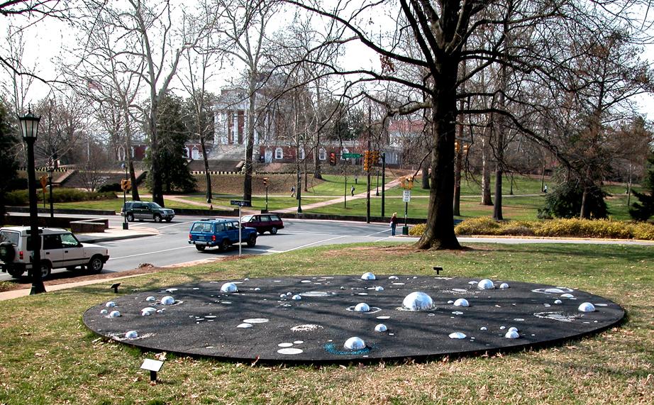 Ephemeris   25 ft. diameter  Coal slag, mirrors, acetate, plexiglass, marble dust University of Virginia 2003-2004