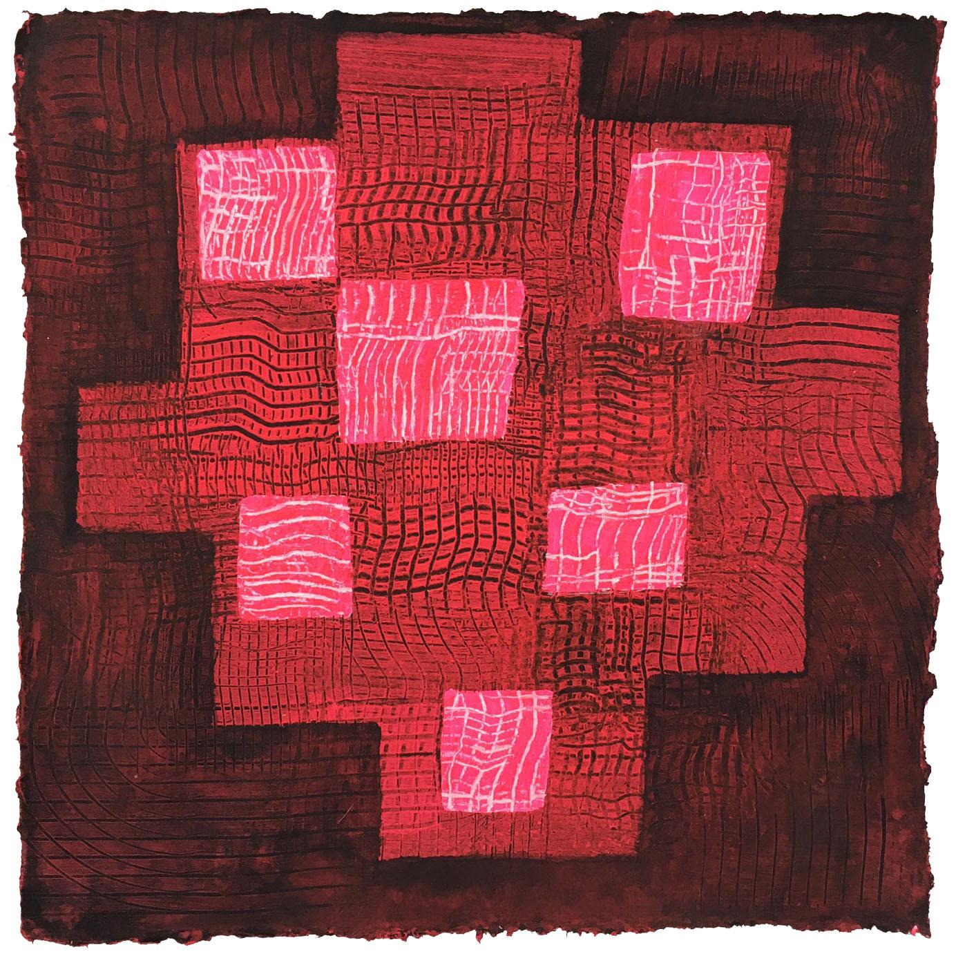 Le Rouge et Le Noir    12 x 12 inches Acrylic on Paper 2016