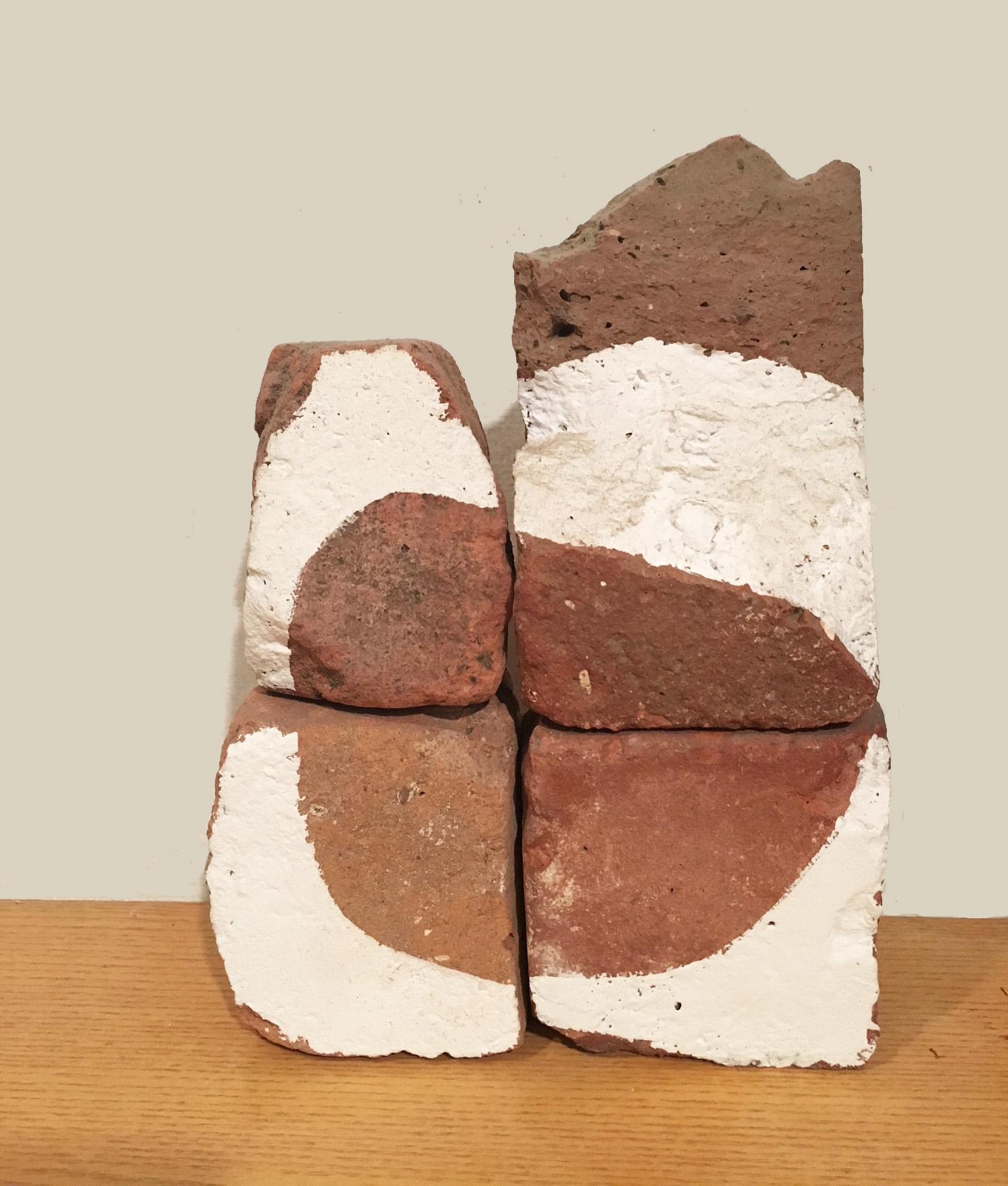 Brick-a-Brac 8    1 0 x 7 x 3 inches    Acrylic on Bricks 2000