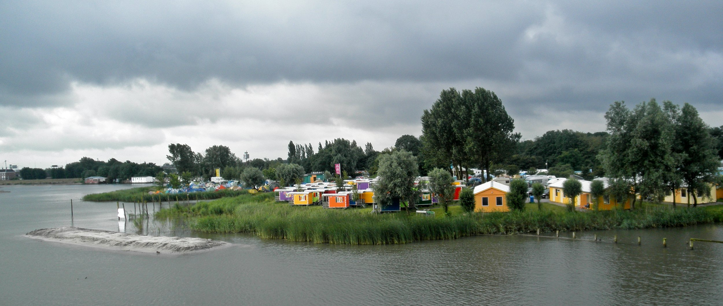 Camp Zeeburg, on the banks of the river.