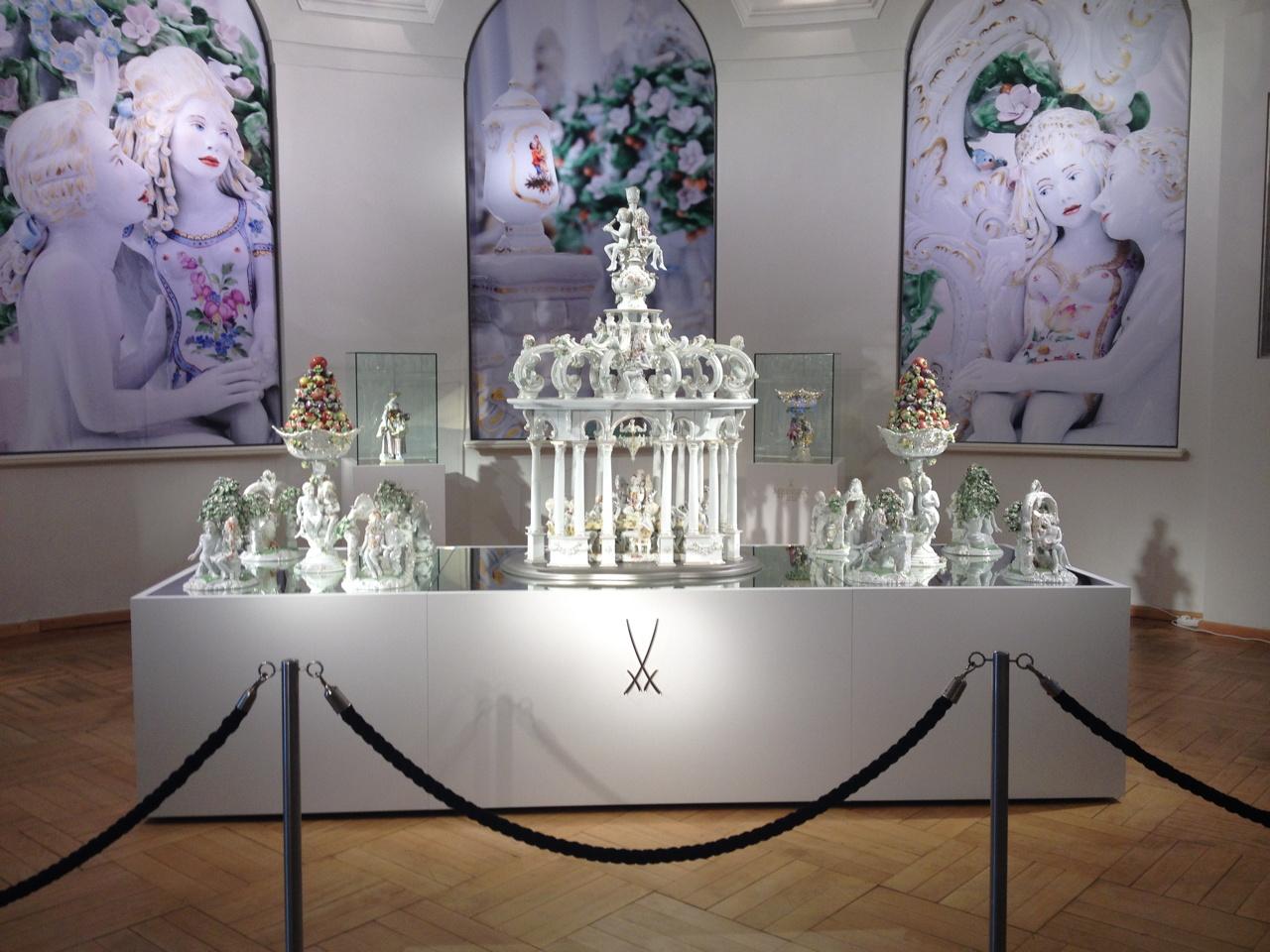 Antemann's work on display at Meissen