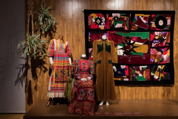 Counter-Couture: Handmade Fashion in an American Counterculture , installation view (photo by Jenna Bascom; courtesy of the Museum of Arts and Design)