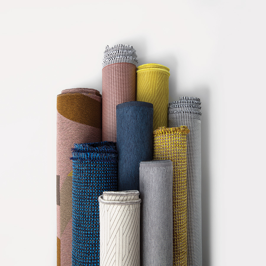 Tick developed Future Tense, a new textile collection of five upholstery designs, for Luum.  Courtesy Luum.