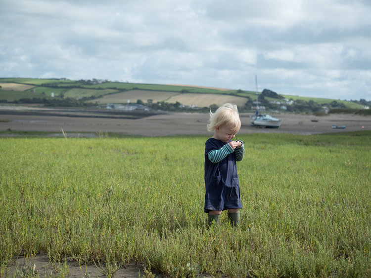 Immy in the Samphire