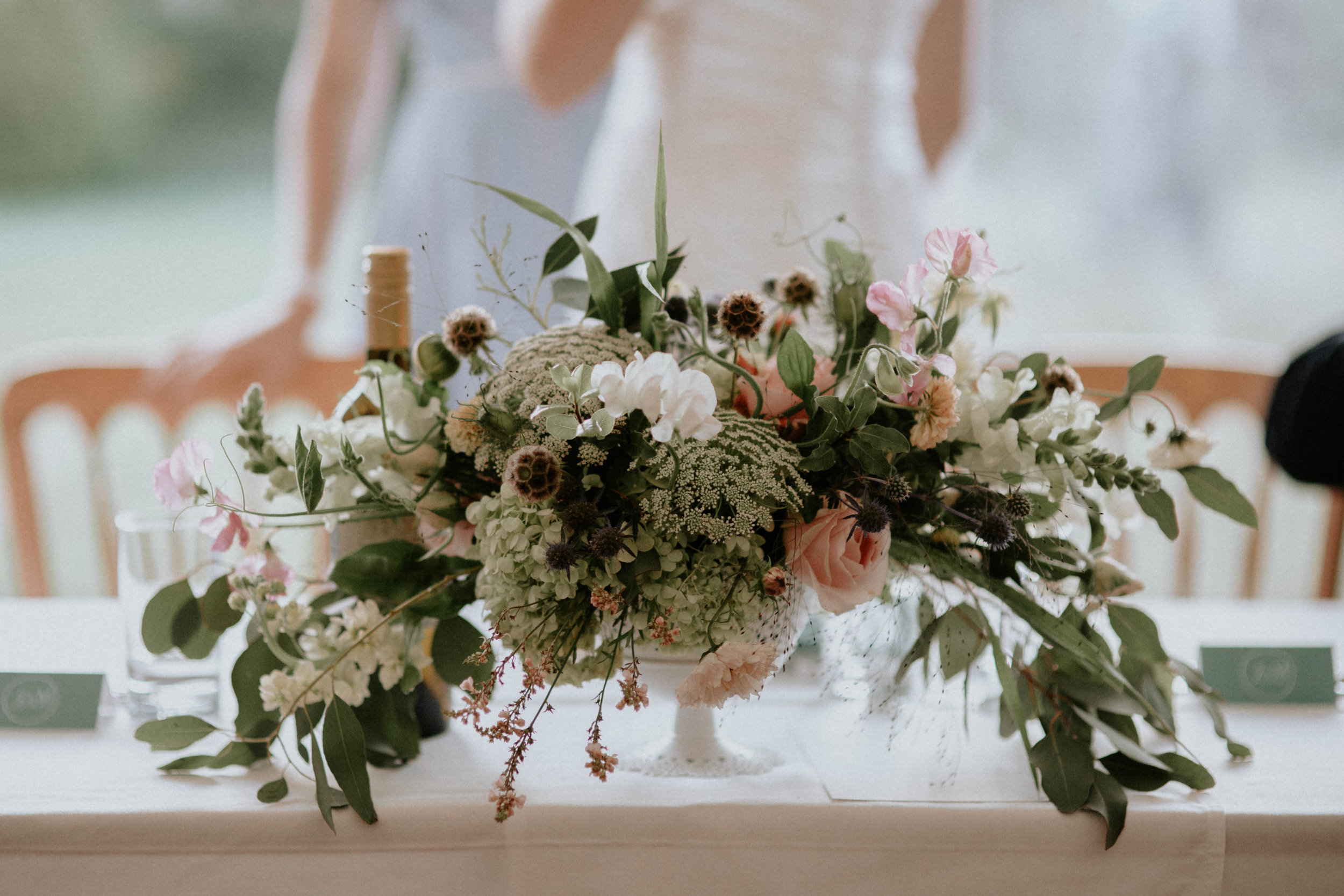 This wedding, set in beautiful formal gardens in Devon, used lots of this Eucalyptus 'Silver Dollar' which is one of my favourites. Photo from  Jessica Williams Photography .