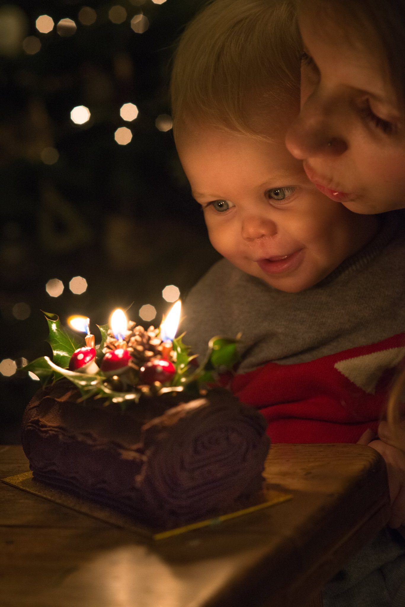 ~ Last Year's Yule Log ~ - I'd like to pretend I made this but Immy was a very clingy baby at the time - we decided to try this year though!