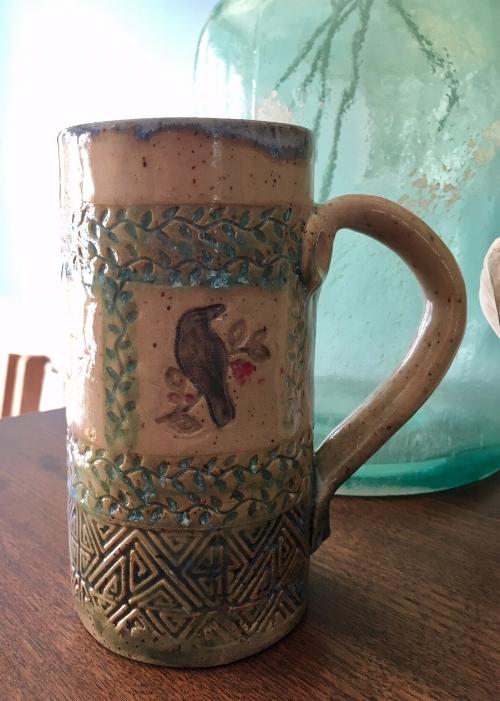 Raven Mug by Len Hughes of desertNOVA
