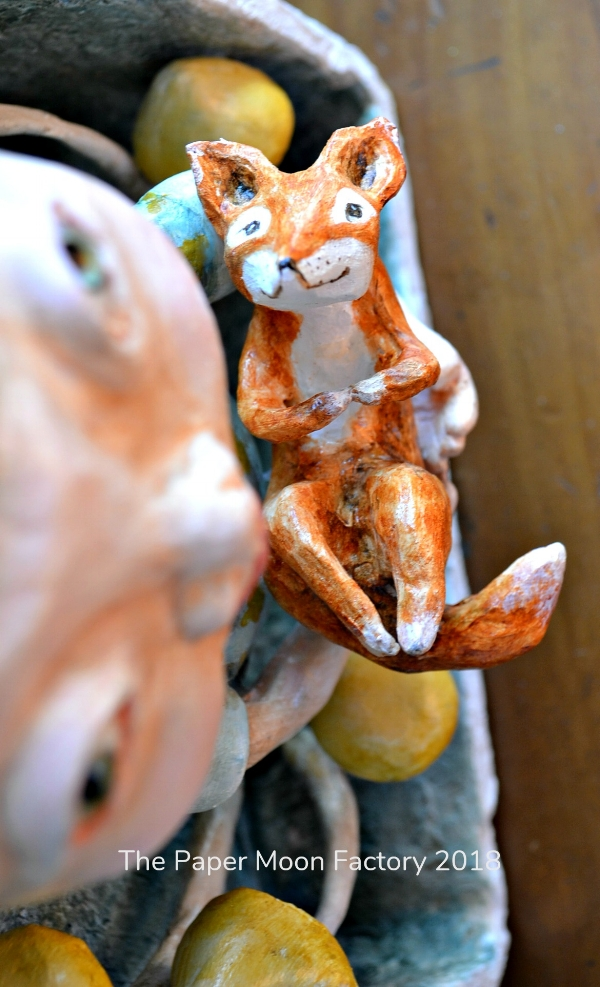 Wood Nymph and The Fox by The Paper Moon Factory