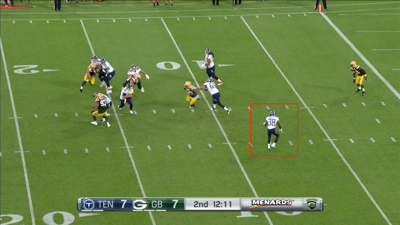 Gabbert had an opportunity to dump the ball off. Instead, he scrambled and threw the ball away.
