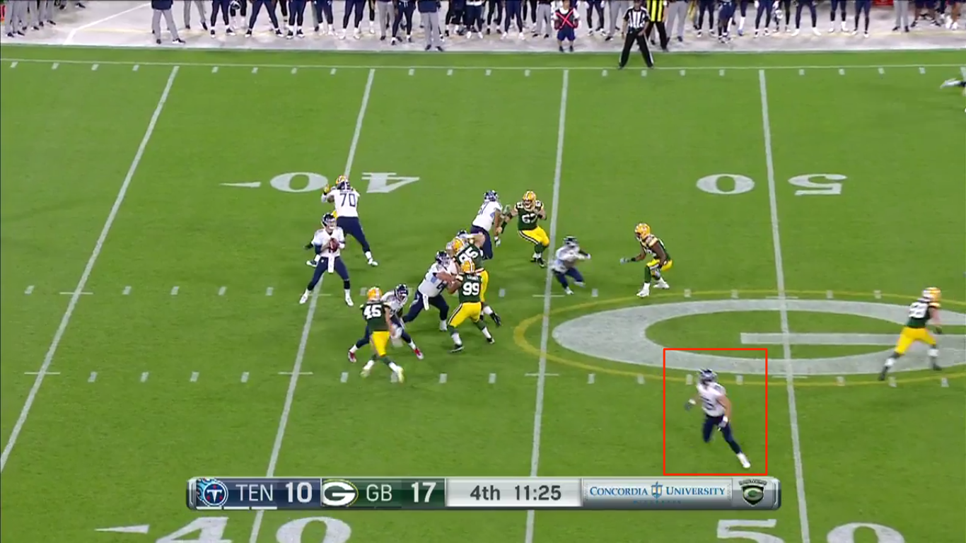 Falk with the open TE look.