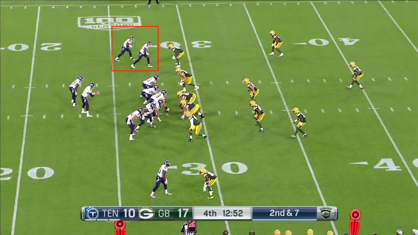 Pre snap formation; twins out of shotgun with an offset running back.