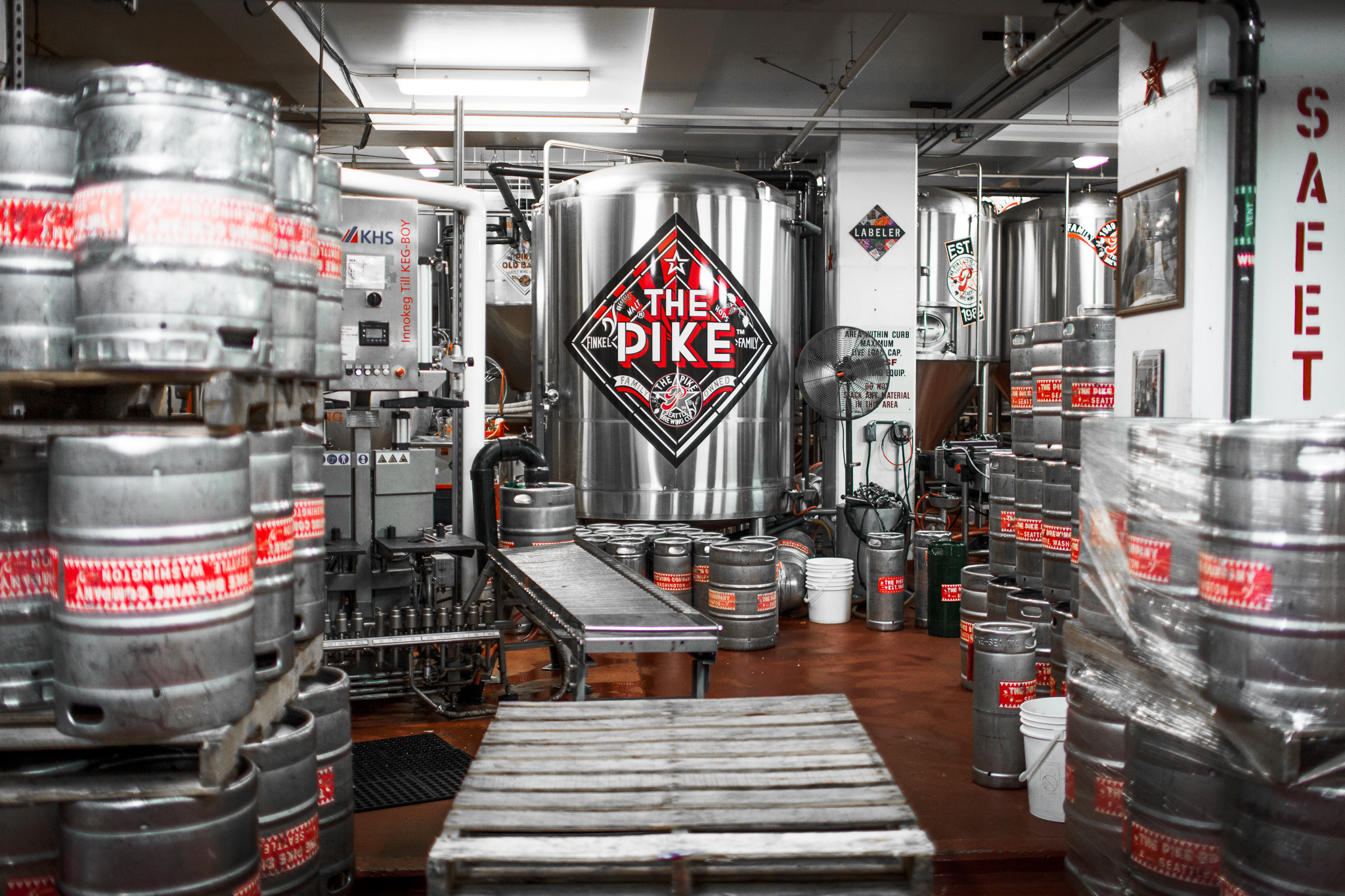 Pike's production brewery