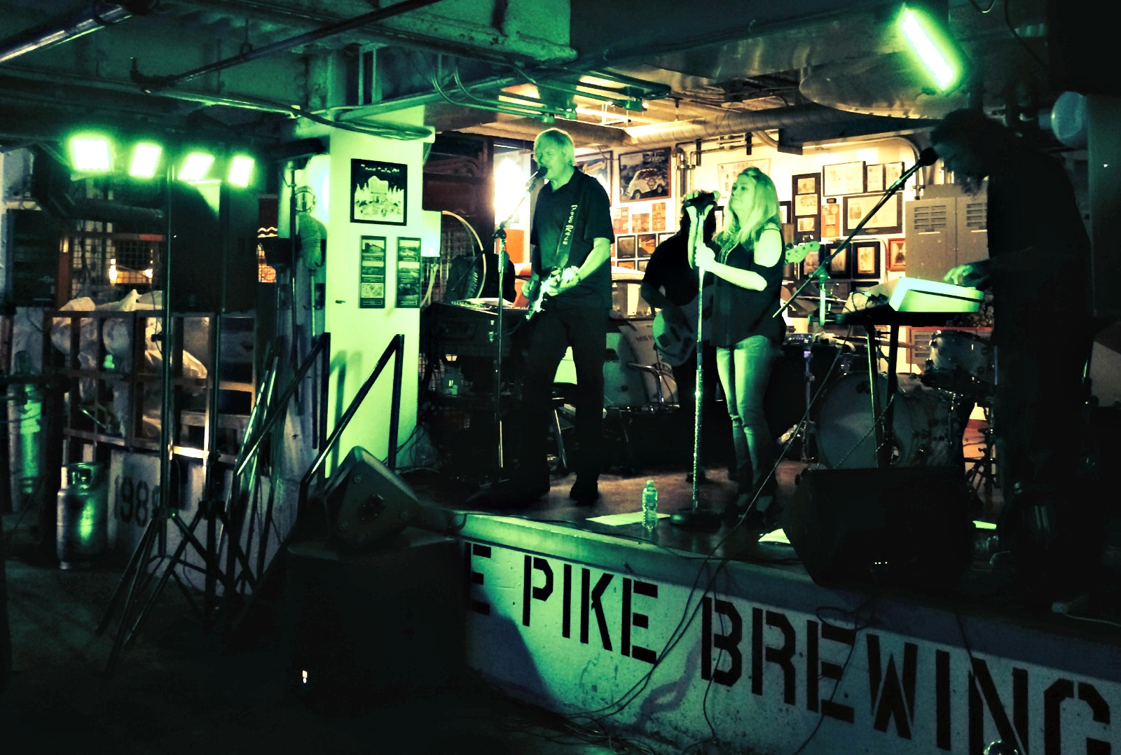 Band in brewery
