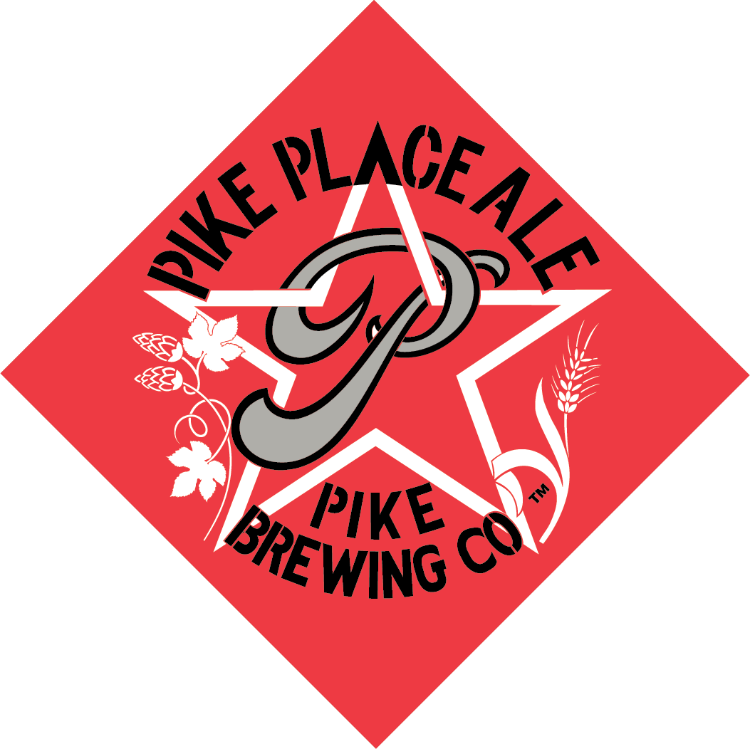 Pike Place Ale logo and pint of beer