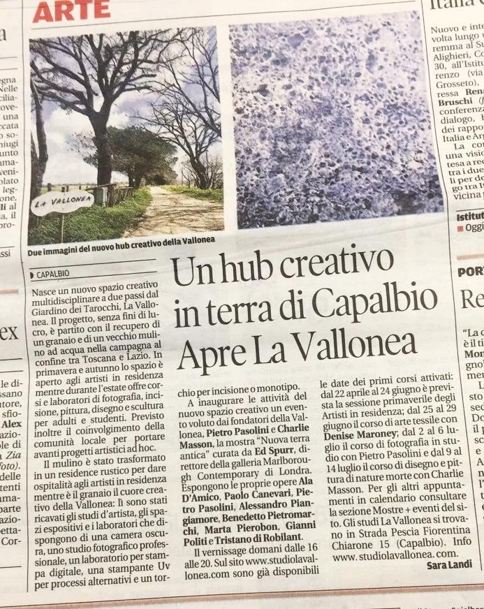Il Tirreno | 30 marzo, 2018