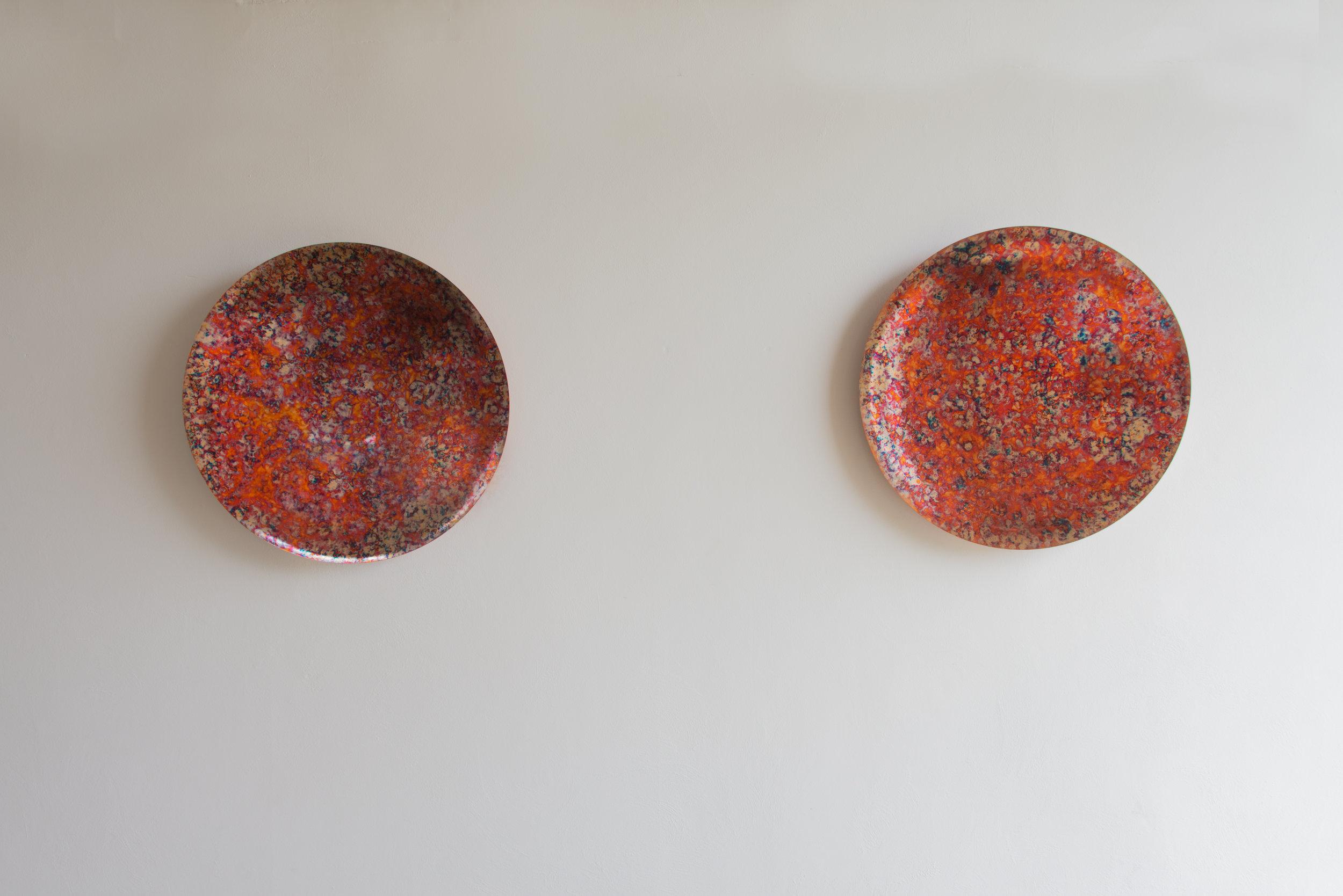 Pietro Pasolini   Anatomia dell'Irrequietezza I & II , 2018 Fire burnished copper