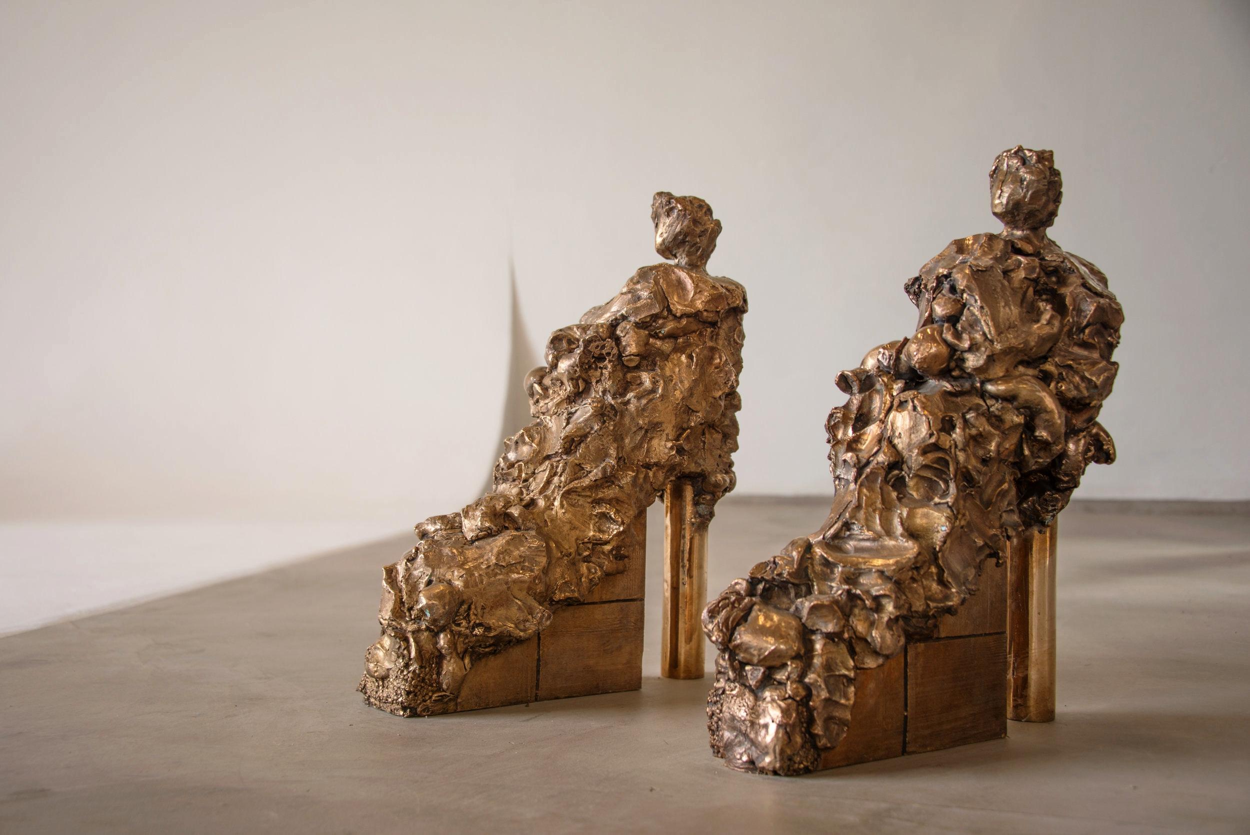 Marta Pierobon   Shoes , 2017 Bronze