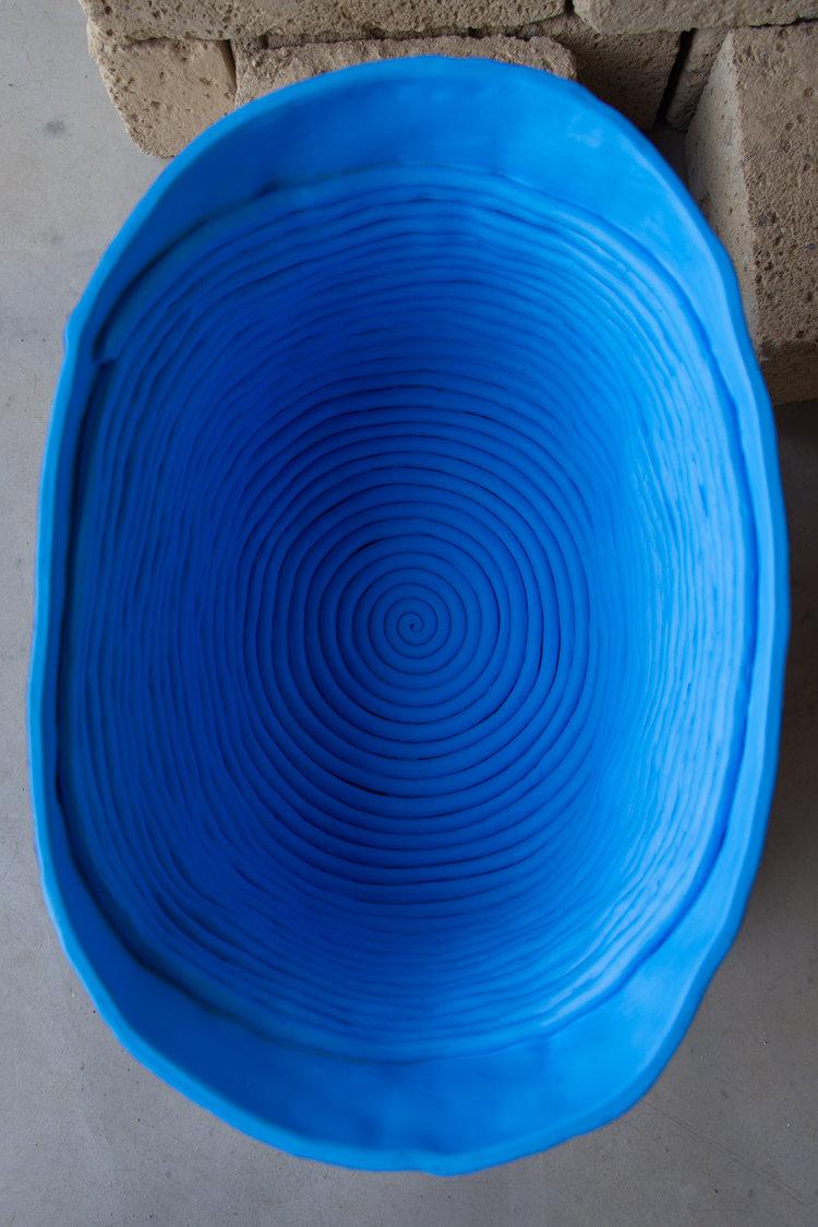 Tristano di Robilant  Detail of Nestor's Tub , 2018 Painted Terracotta