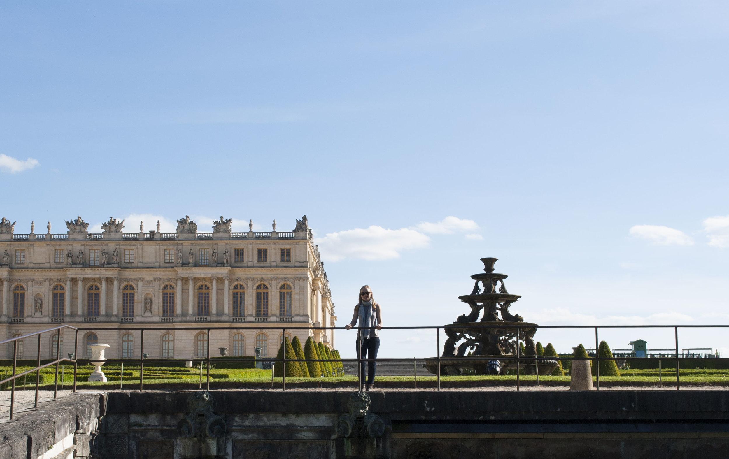 Exploring the Gardens of Versailles.