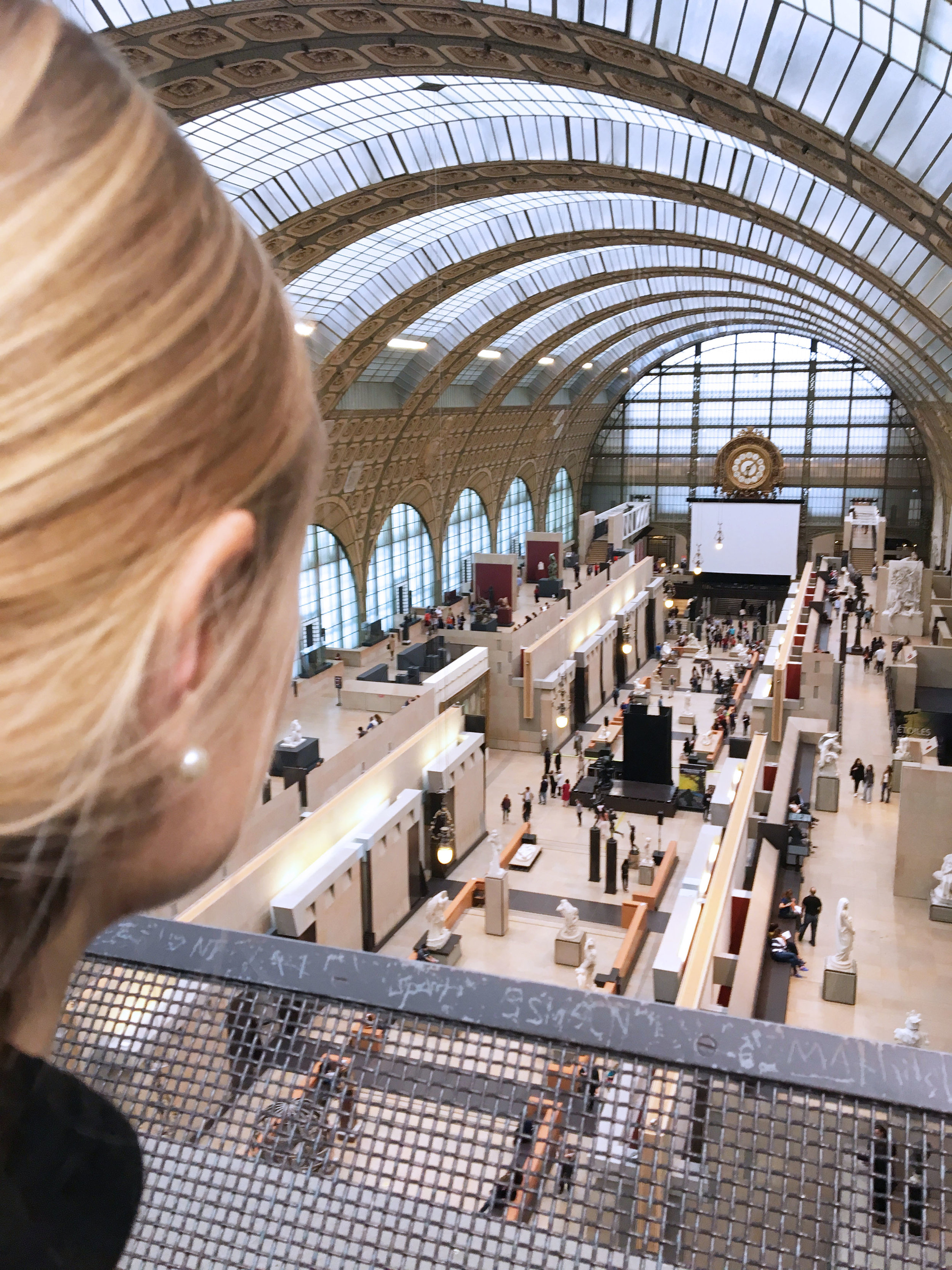 The top-floor lookout inside the Musée d'Orsay.
