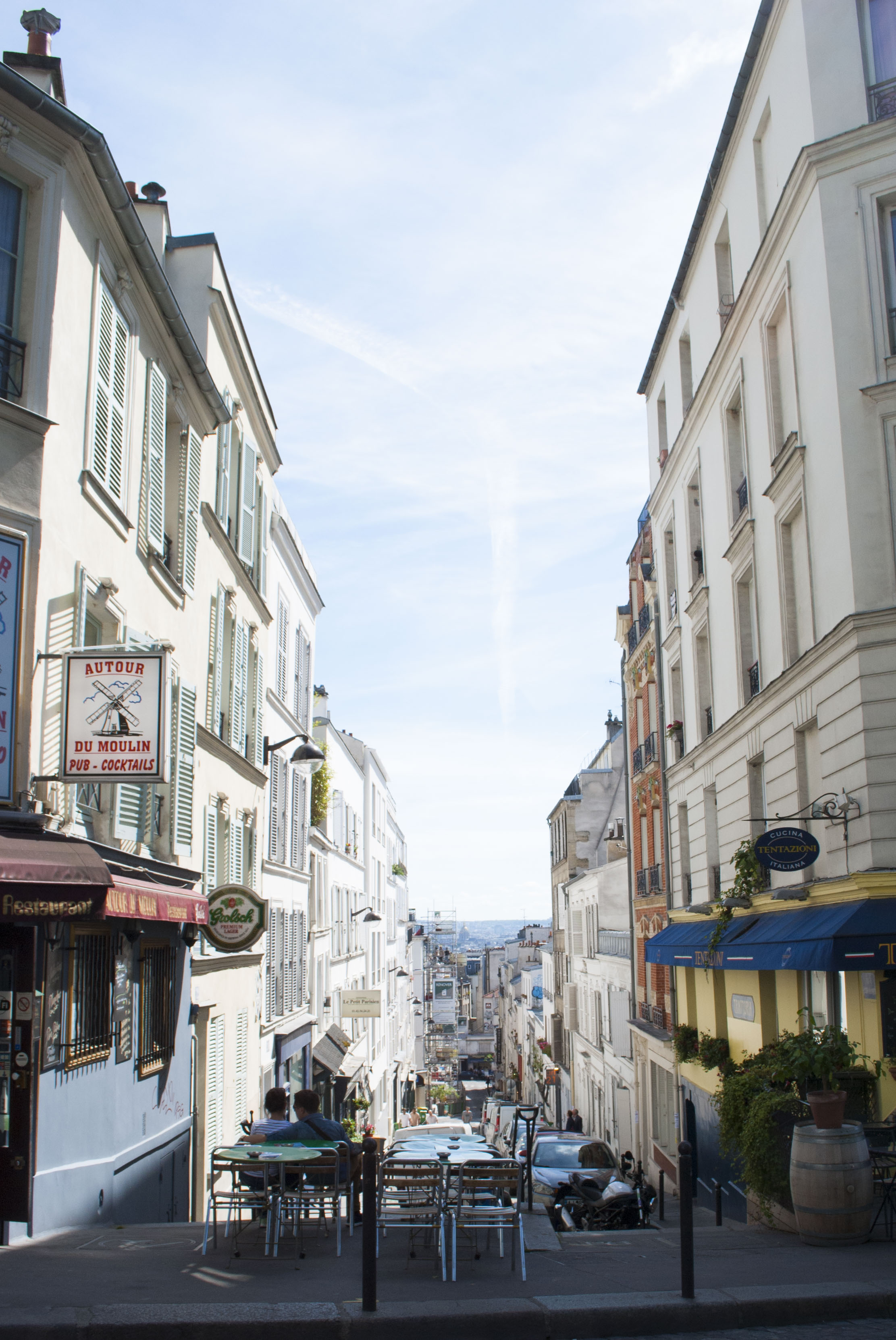 Montmartre's elevated view.