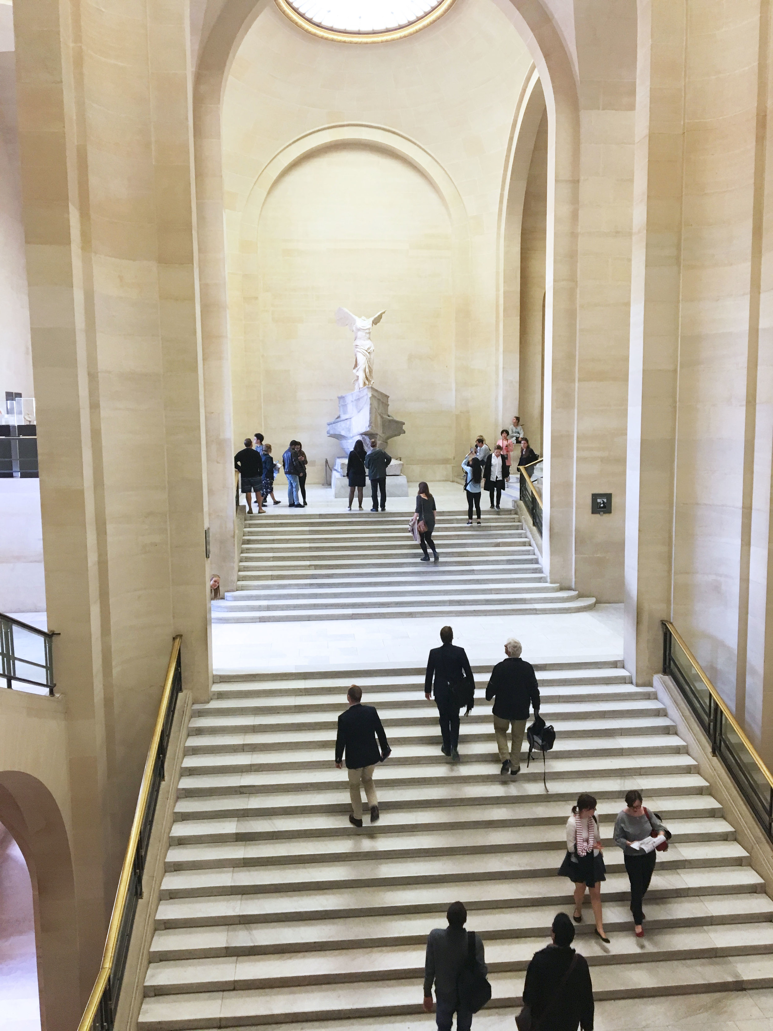 Daru staircase,  Winged Victory of Samothrace  and me (if you can find me).