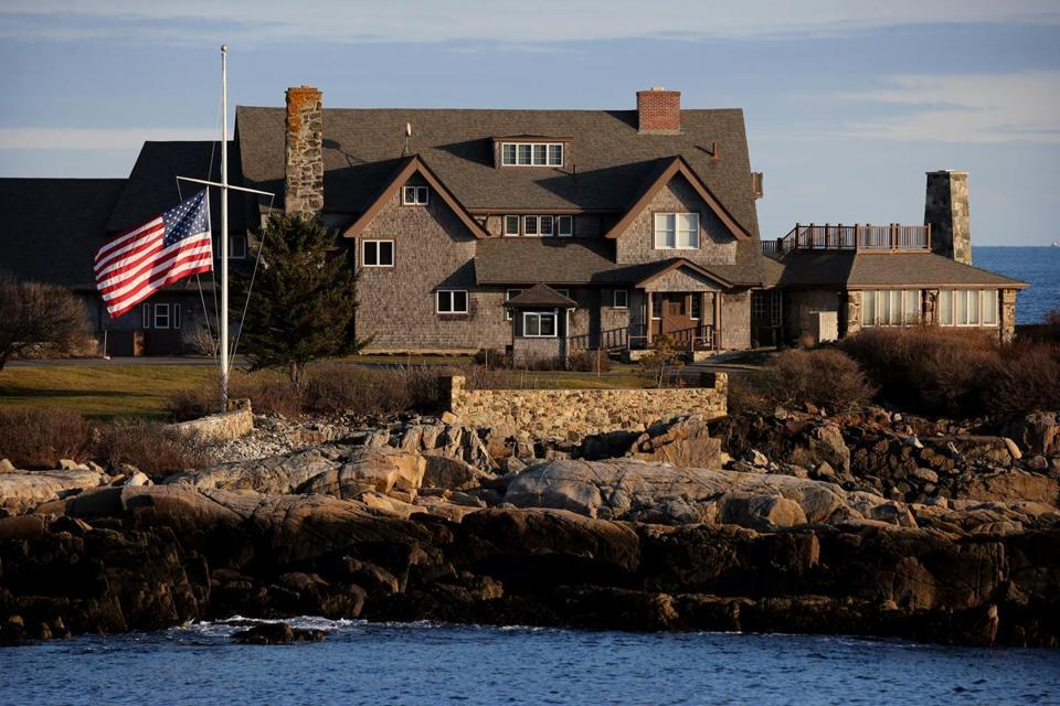 Boston Globe :  A day of reflection in Kennebunkport.