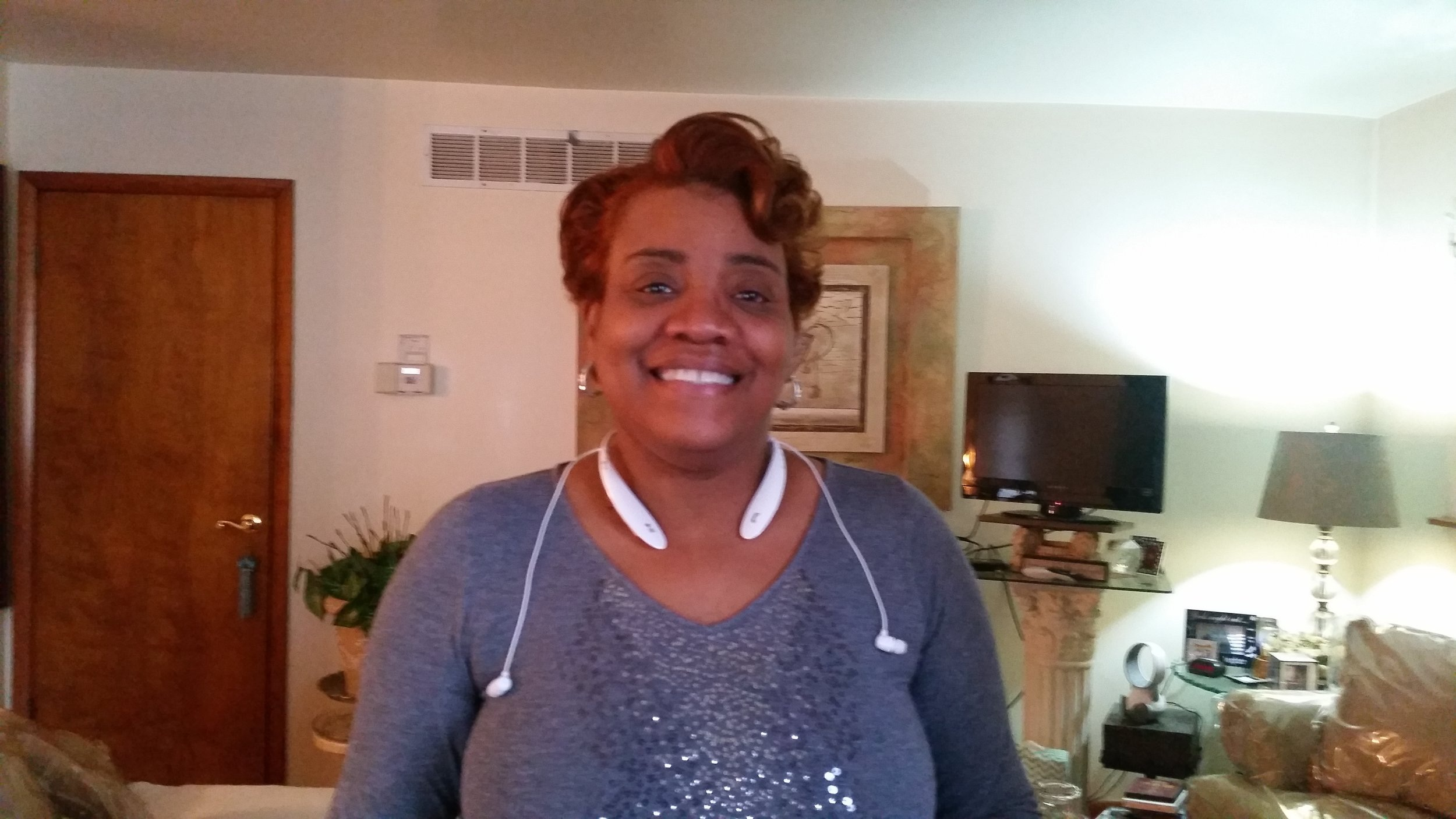 This caregiver was happy to have us in her home. She takes care of her mother.