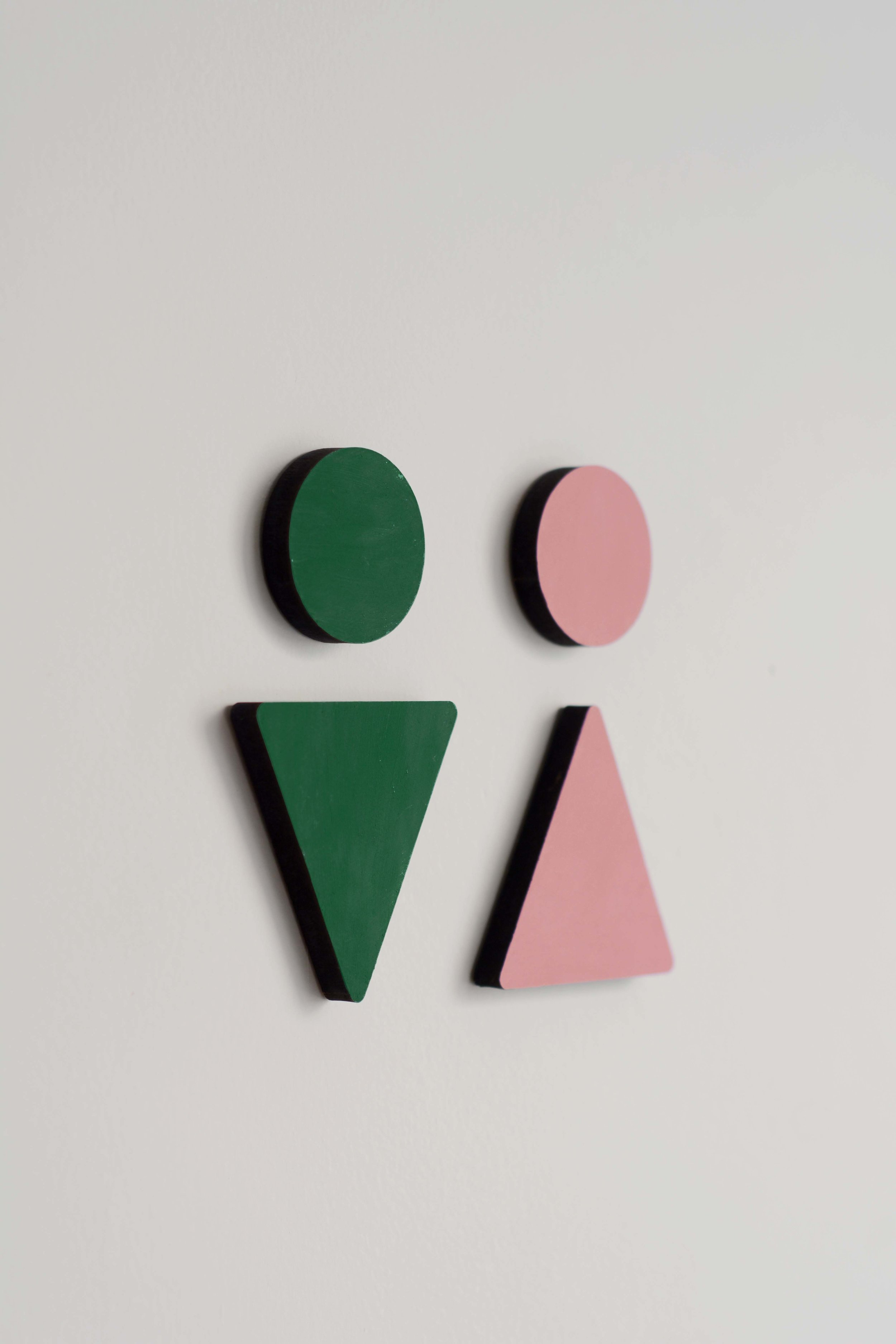- The shapes from the pattern are used all around the hotel in signage, stationary, and interiors.