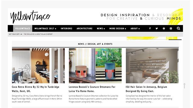 Our @cocoretro is on @yellowtrace!!! #yellotrace #homepage #yellotraceinteriors #32mq #32mqDesignStudio #architecture #design #designs  #autogramtags #designing #megazine #modern  #materials  #lovedesign  #onlinestore  #onlines  #shoot  #photostyle  #agency  #magazine  #restaurant #bistro  #cuisine  #gastronomy  #diner