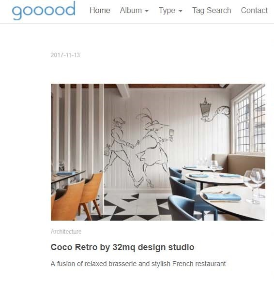 Our Coco is in China on Gooood!!!! Thank you.  http://www.gooood.hk/coco-retro-by-32mq-design-studio.htm  @gooood.hk @32mqDesignStudio #32mqdesignstudio  #32mq #architecture  #Cocoretro @cocoretro_tunbridgewells #autogramtags #design  #architectanddesign  #design  #artist  #artwork  #drawing  #beautiful  #interior  #style  #interiordesign  #interiorinspiration  #restaurant  #food  #pubblication  #magazine  #shooting  #design  #style  #china #magazine #architecturalmagazine