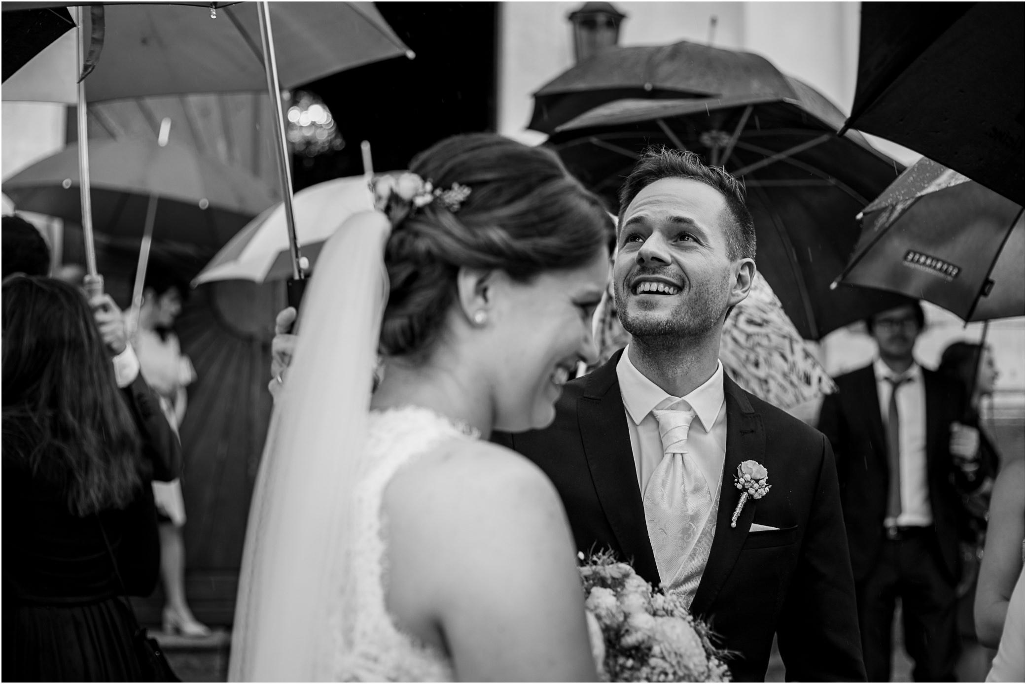 Hochzeitsfoto-Regen