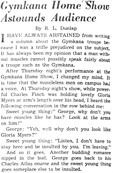 Diamondback Article 4/27/1948