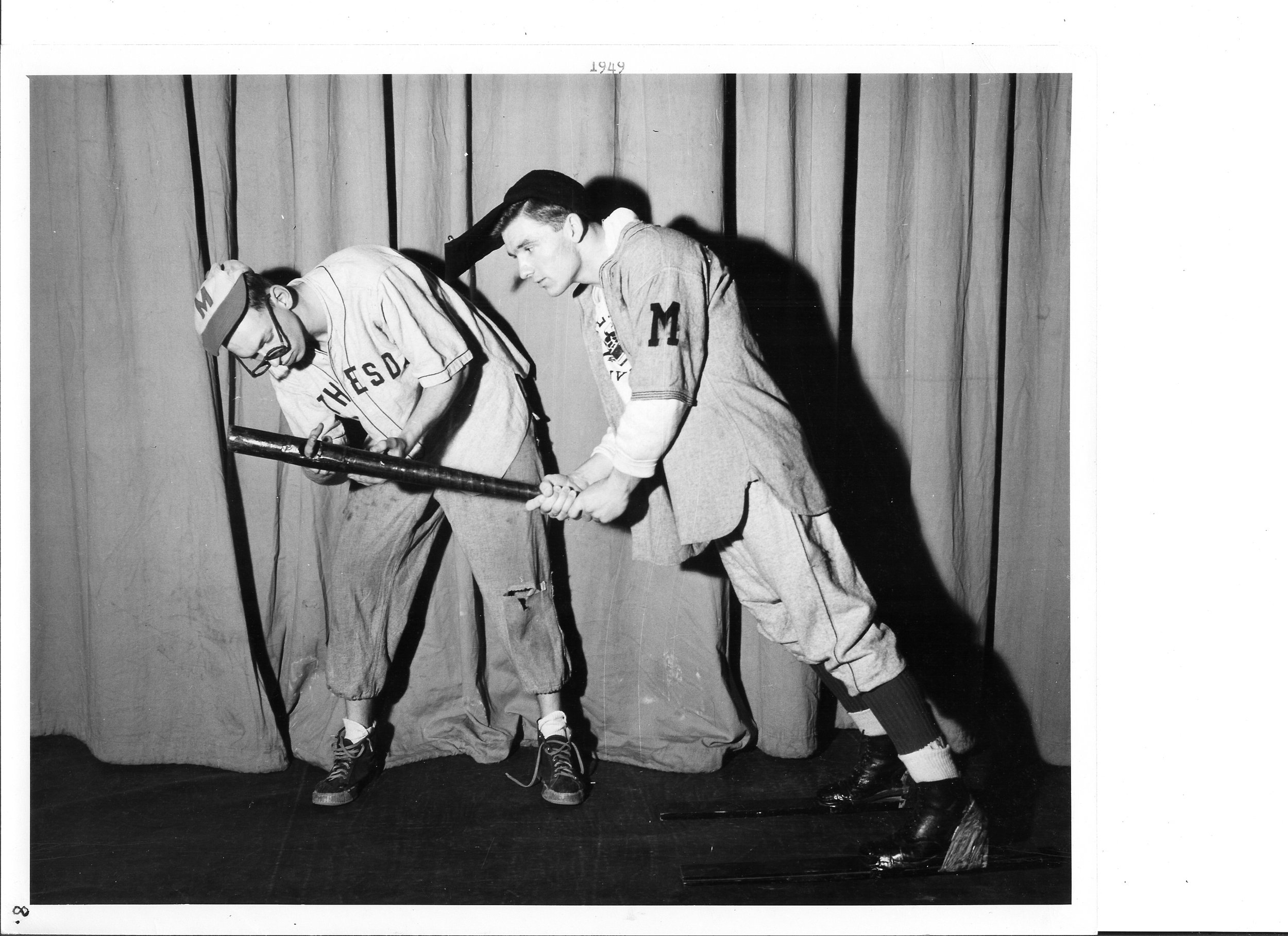 1949 'Casey at the Bat' l to r Rolf Scovell and Walter Clark.jpg
