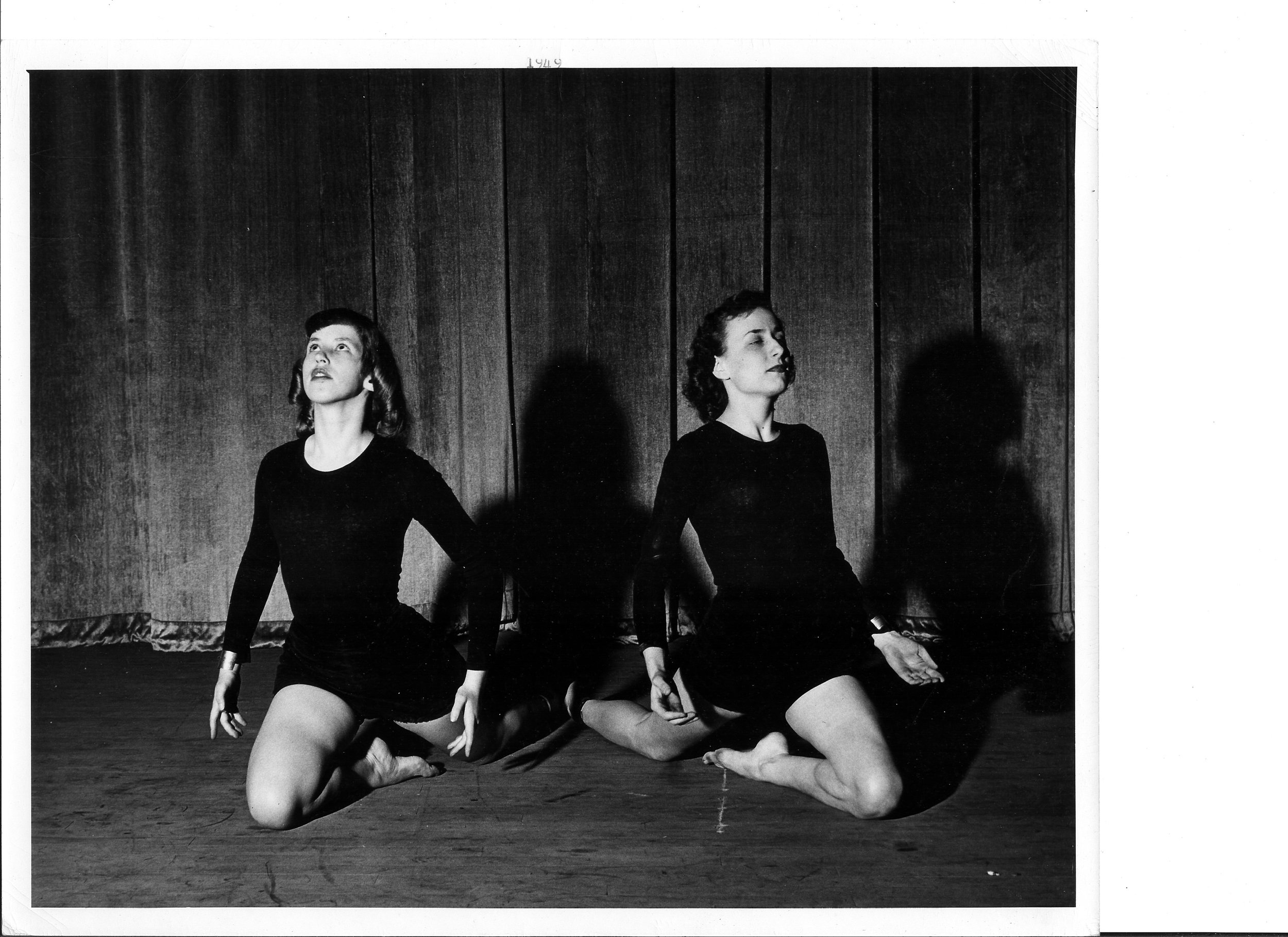 1949 Betty Baldwin and Helene Brannock with the Modern Dance number.jpg