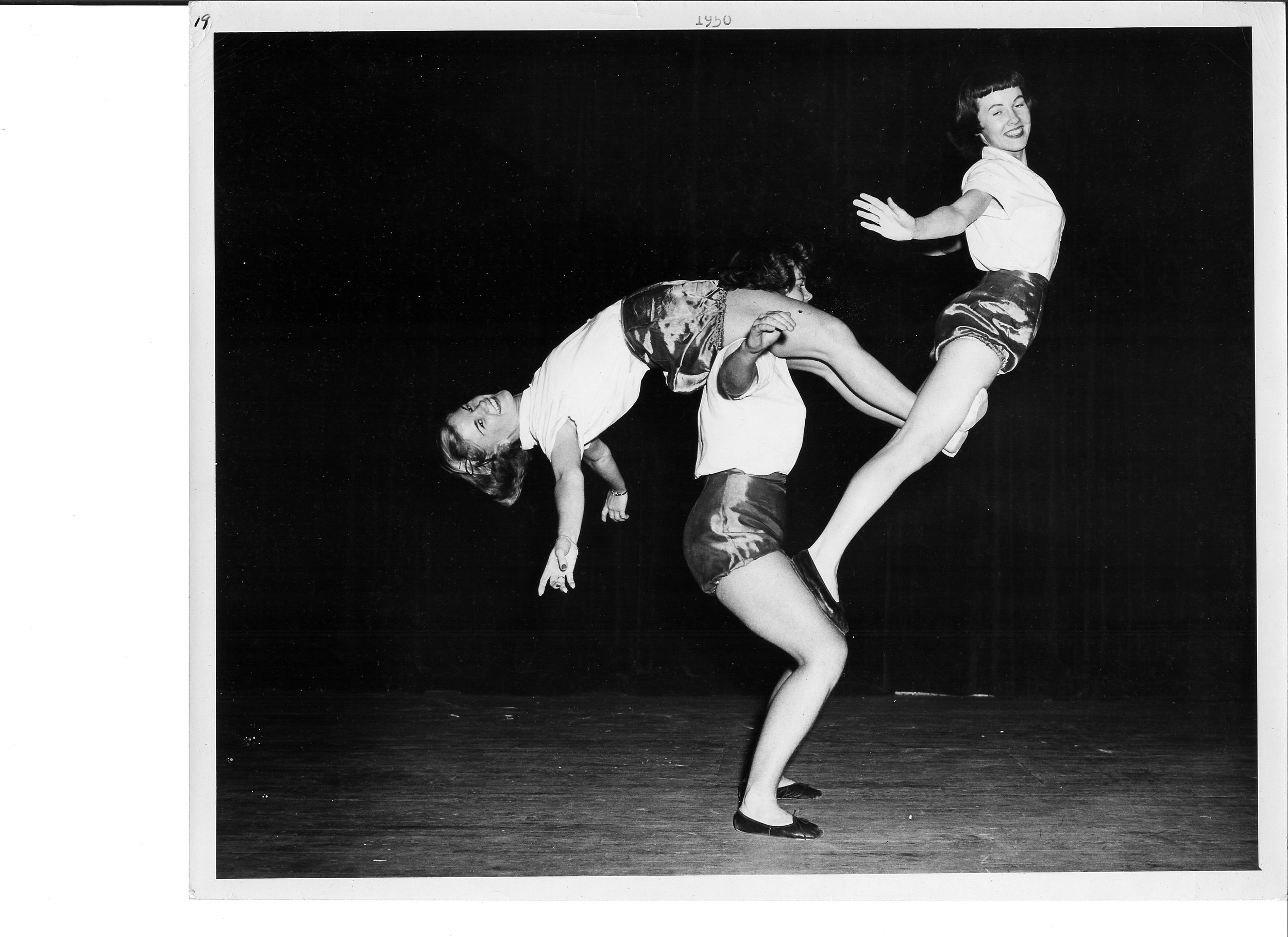 1950 The Acro Cats - Lois Jackson, Marion Copping and Virginia Ritter.jpg