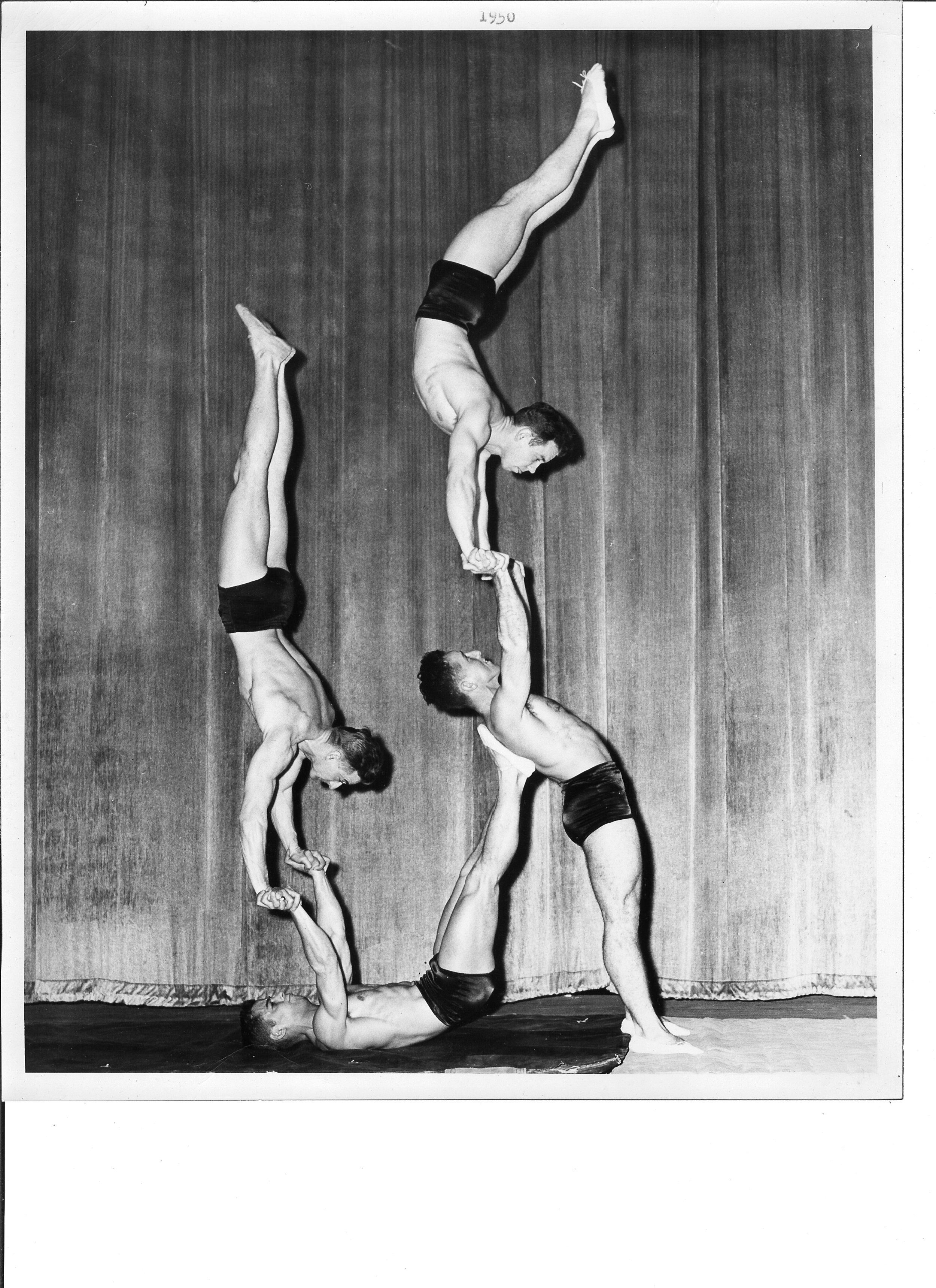 1950 Tom Bolgiano, Harold Buckley, Al Kuckhoff and Chuck Finch.jpg