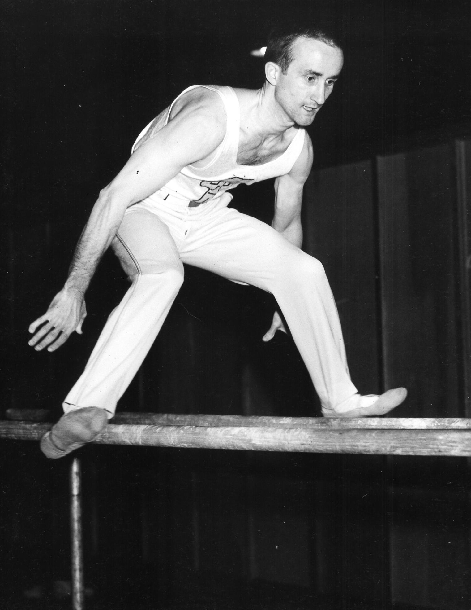 Chuck Pinckney on Parallel Bars (1951)