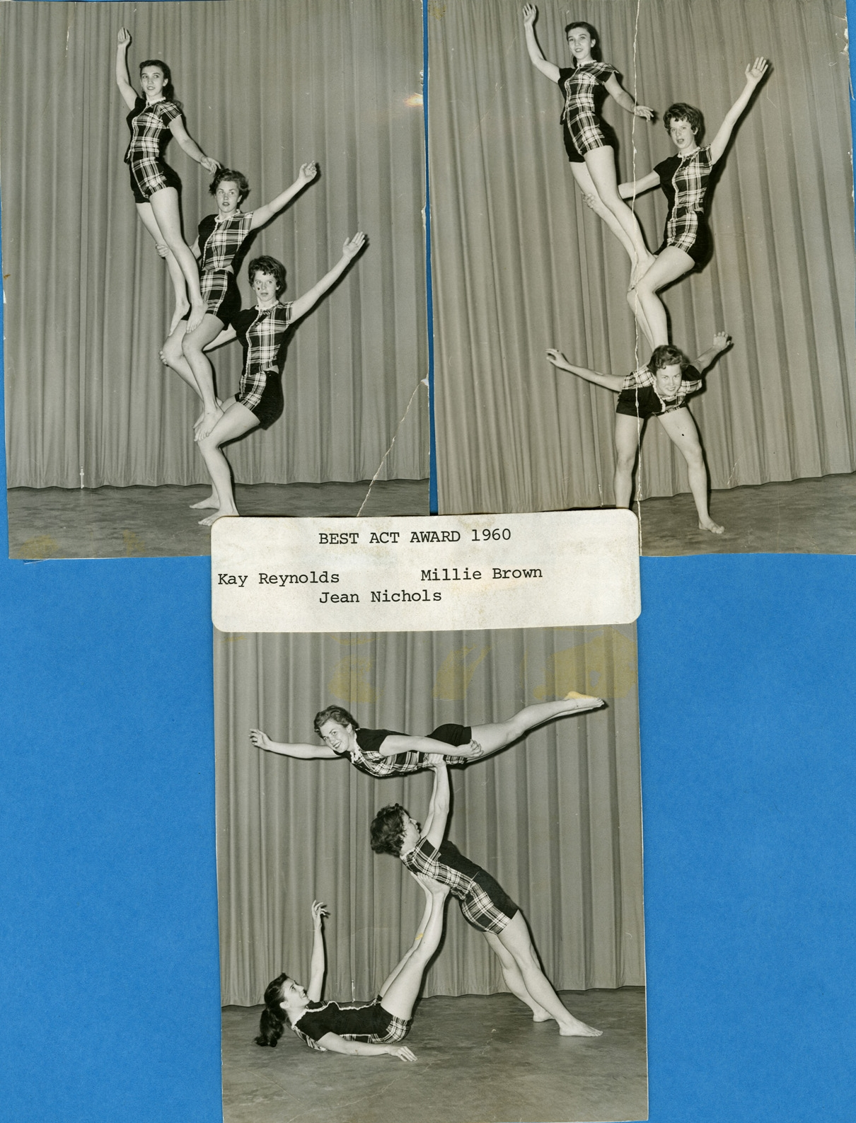 """1960 - """"The Tridettes"""" Women's Triples Balancing"""