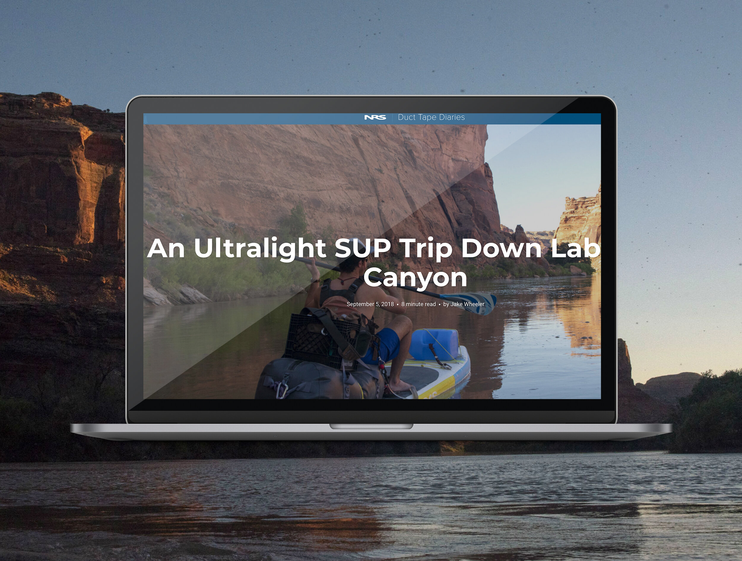 NRS - Photography and blog content creation highlighting a SUP trip down the Green River in Utah.