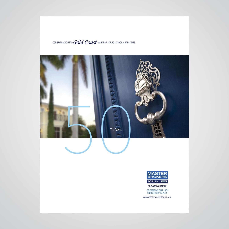 Magazine ad design for Master Brokers Forum (MBF), a real estate broker consortium