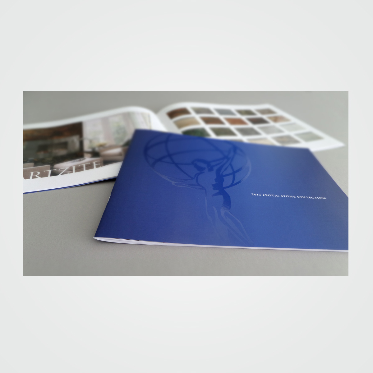 Product catalog / sales brochure design for Marble Of The World, Fort Lauderdale