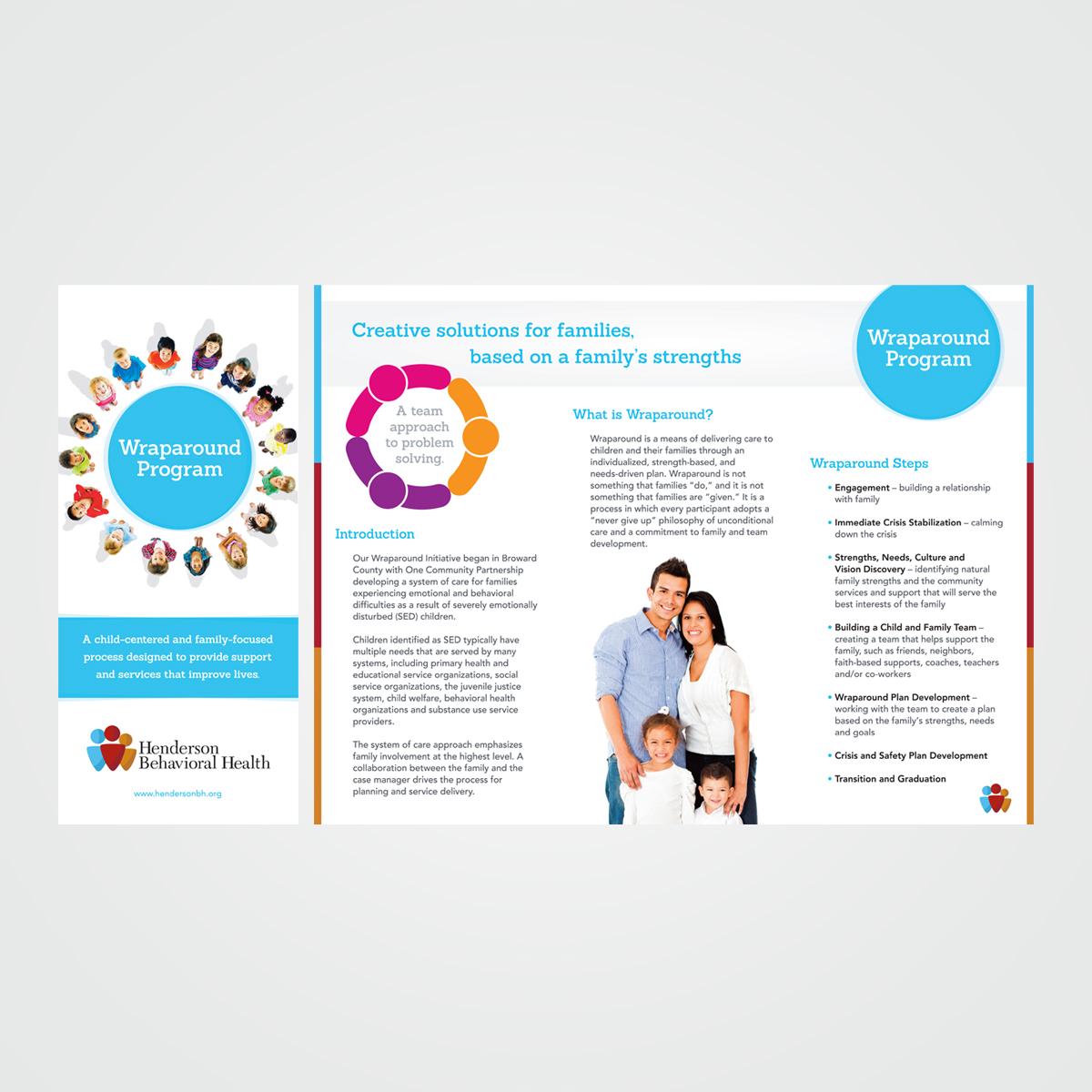 Program brochure design for Henderson Behavioral Health - one of a complete series of program brochures