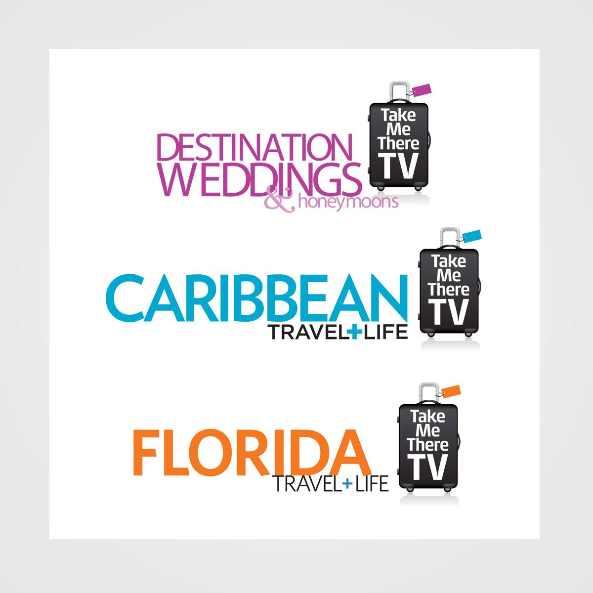 "Brandmark / logo design for ""Take Me There"" TV programs sponsored by Bonnier Corporations travel publications"