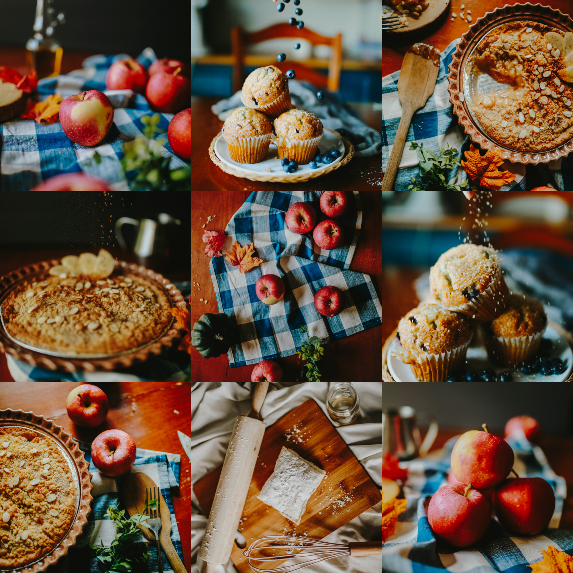 Seasonal Instagram Example Mockup: - Used a mix of fall-themed desserts from my recent styled food shoots to create this mockup.