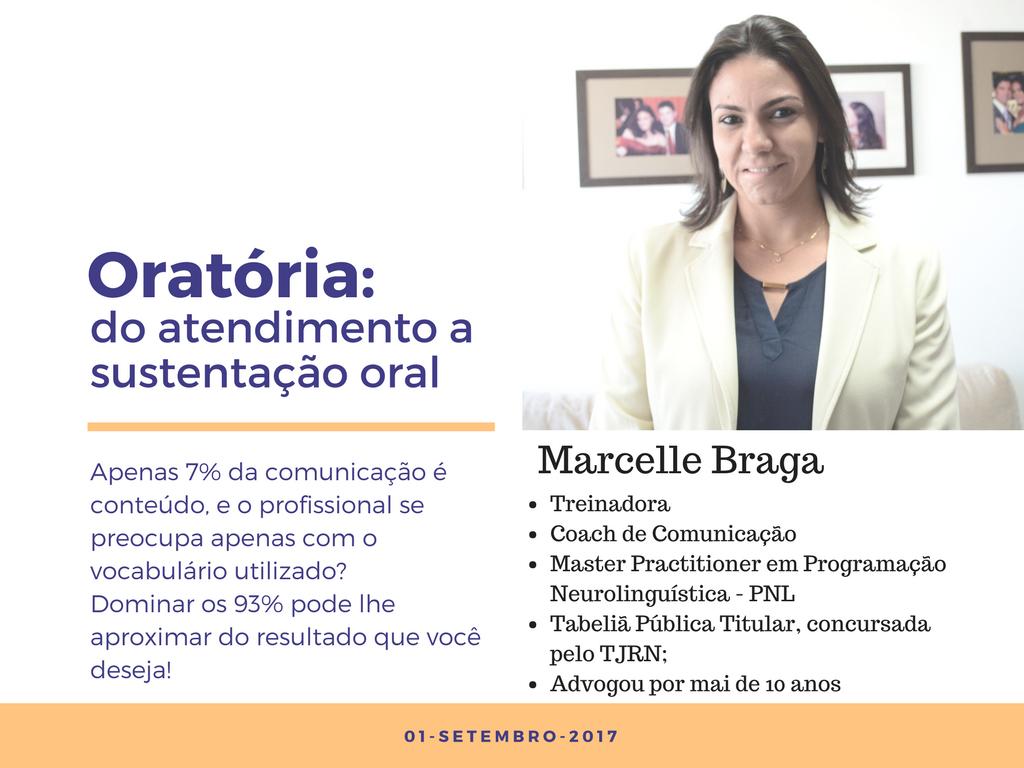 Oratória: do atendimento a sustentação oral; por Marcelle Braga