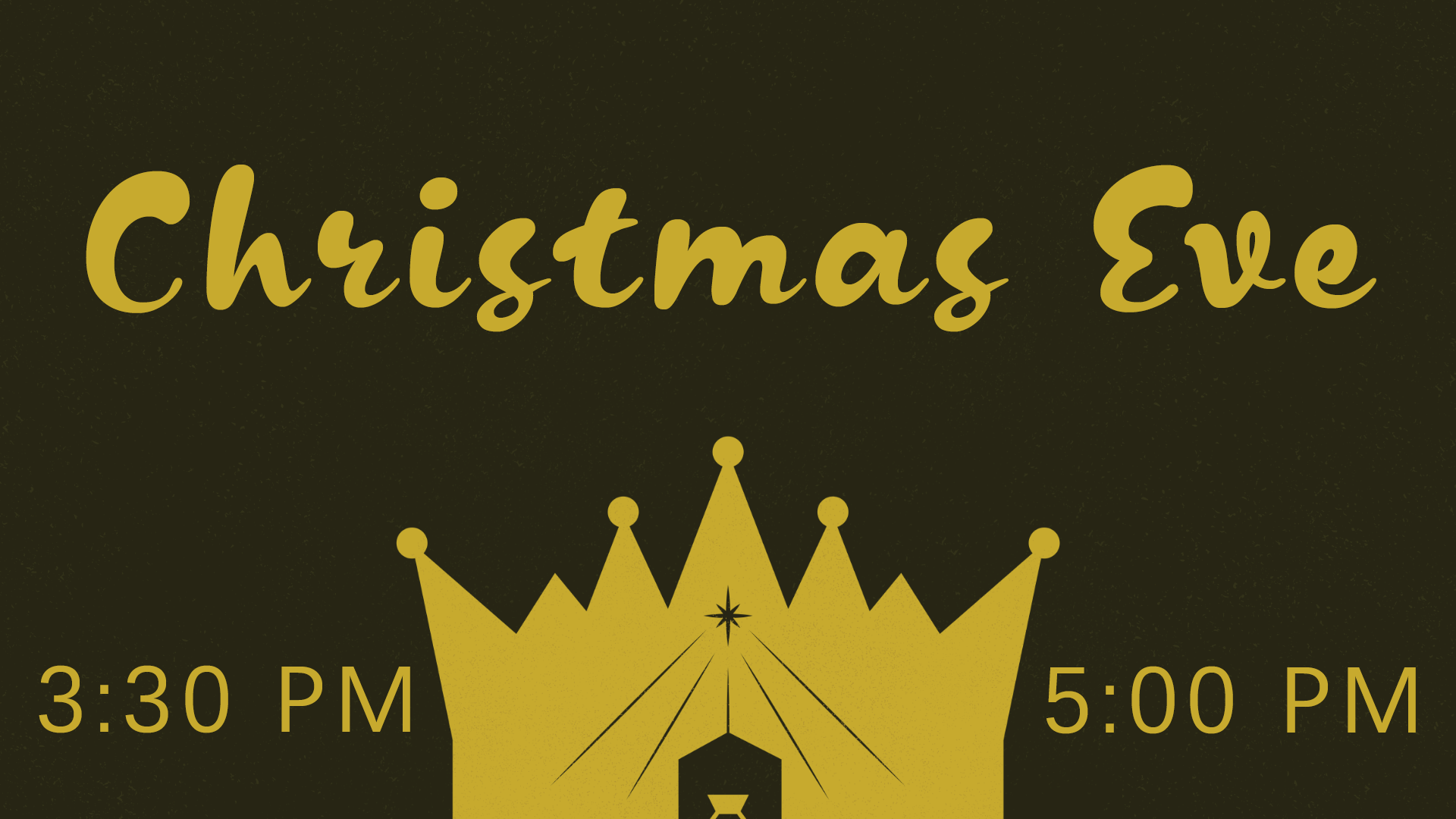 Join us at 3:30 and 5:00 pm on Christmas Eve as we celebrate the birth of Christ!