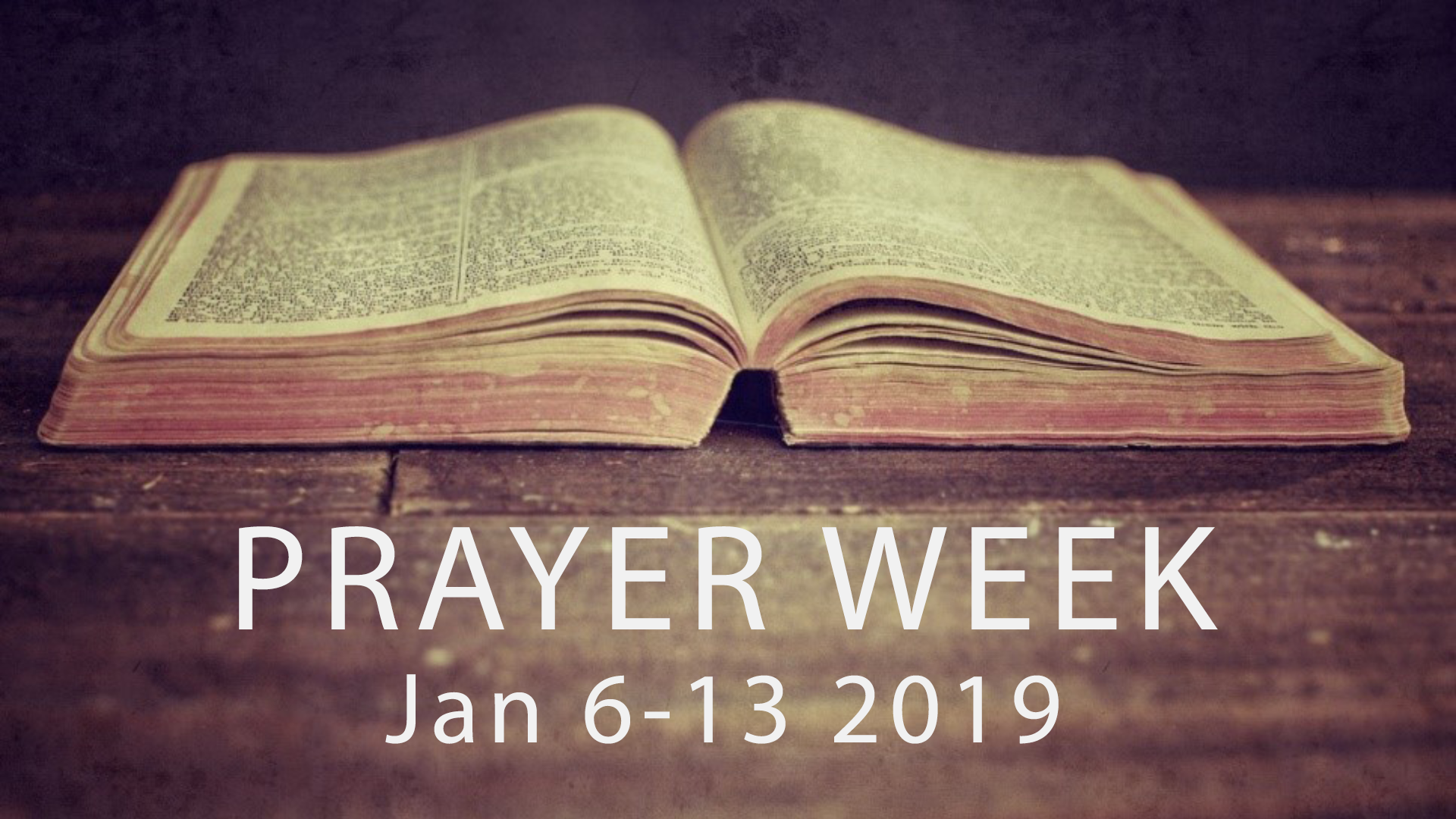 It's that time of year again! Every year we dedicate the first full week of the year to spending time in prayer. Follow our social media pages each day of prayer week for more information!