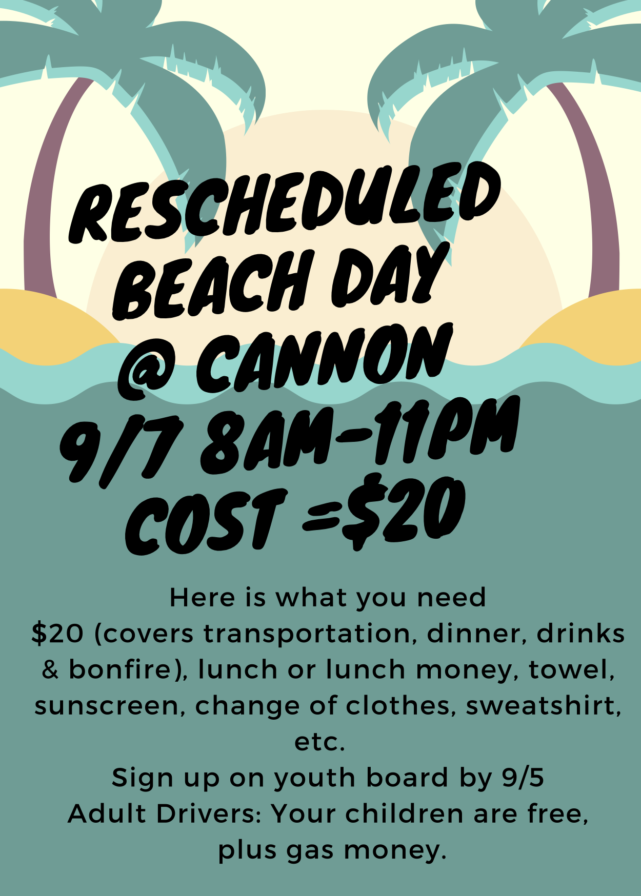 Come join us September 7th for a trip to Cannon Beach!