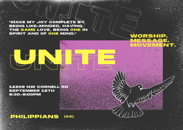 Come join youth groups from around the Portland metro area for a night of worship and fellowship!